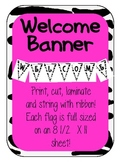 ZeBrA Welcome Flag Banner
