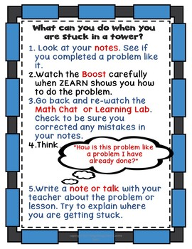 Zearn Posters to Help Students when they are Stuck
