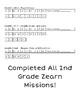 Zearn Progress Student Tracker | 2nd Grade Level