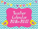 Chevron School Calendar 2016-2017
