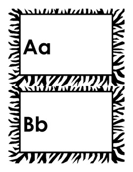 Zebra ABC Book