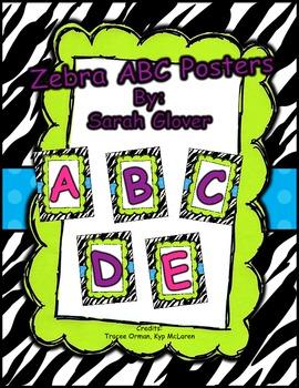 Zebra ABC Posters