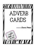 Zebra Adverb Cards