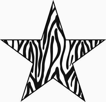 Zebra Alphabet – Full Set of Characters — Latin, Numbers, Punctuation–300 DPI