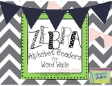 Zebra Alphabet Headers for Word Walls and Anything Alpha