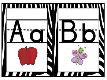 Zebra Alphabet & Numbers