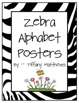 Zebra Alphabet Posters