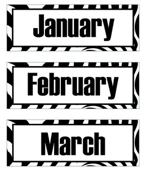 Zebra Animal Print Calendar Bundle