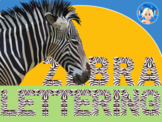 Zebra Animal Print Letters and Numbers Font Clip Art