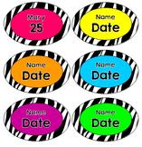 Zebra Birthday Tags