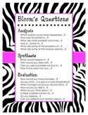 Zebra Bloom's Poster