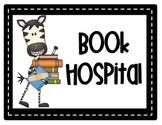 Zebra Book Hospital Label