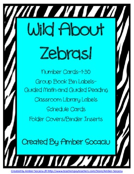 Zebra Border - Schedule Cards, Library Labels and More!