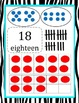 Free! Zebra Bordered Math Resources for Room (Ten Frames, Tallies, Dot Cards)