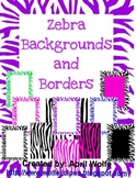 Zebra Borders and Backgrounds