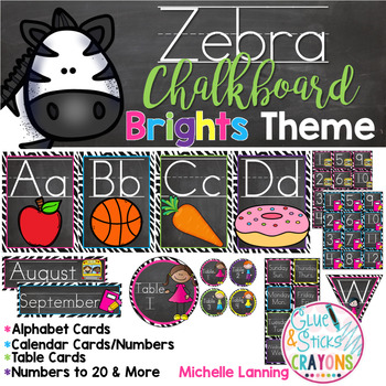 Zebra Bright Theme Classroom Decor*updated*