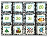 Zebra Calendar Cards