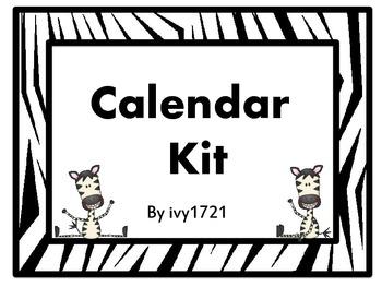 Zebra Calendar Kit