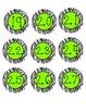 Zebra Calendar Numbers - Green