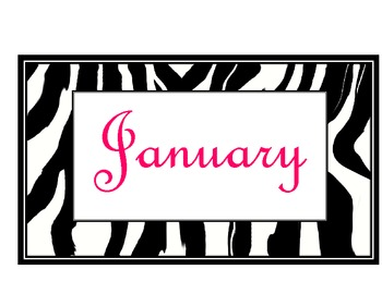 Zebra Calendar Titles