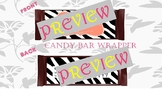 Zebra Candy Hershey Bar Wrapper