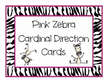 Zebra Cardinal Directions Cards
