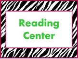 Zebra Center labels