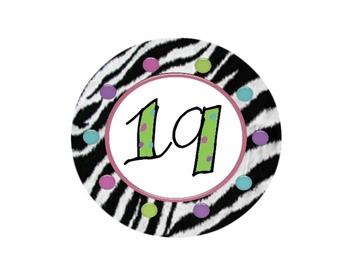 Zebra Circle Numbers