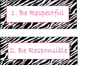 Zebra Class Rules