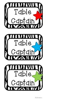 Class Job Cards, Nameplates, and Calendar Plates (Zebra)