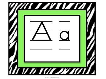 Zebra Classroom Decor
