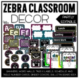 Zebra Classroom Decor Set