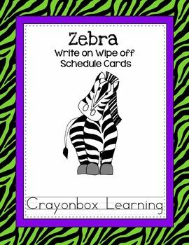 Zebra Classroom Helpers & Schedule Bundle - with Editable Files