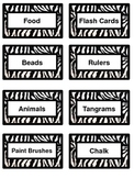 Zebra Classroom Item Labels