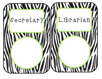 Zebra Classroom Jobs