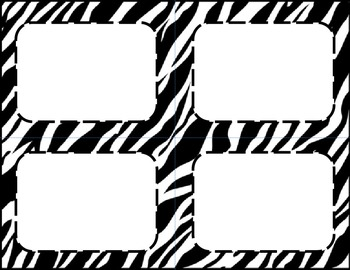 Zebra Classroom Labels and Tags