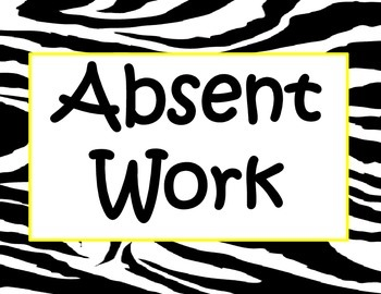 Zebra Classroom Organizational Signs