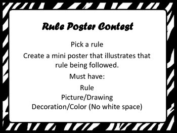 Zebra Classroom PBS Rules and Goal Setting PowerPoint