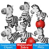 Zebra Clipart, Jungle Clipart, African Animal Clipart, Saf