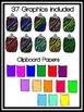 Zebra Clipboards & Pencils Clipart