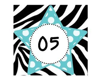 Zebra Clock Numbers