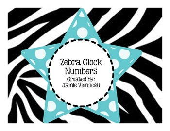 Zebra Clock Numbers