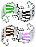 Zebra Color Words