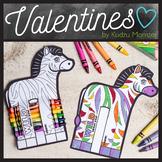 Zebra Coloring Valentine Candy Hugger