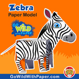 Zebra Craft Activity | 3D Paper Model