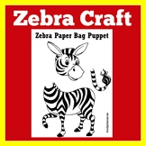 Zebra Craft | Zebra Activity | Zoo Craft | Zoo Activity