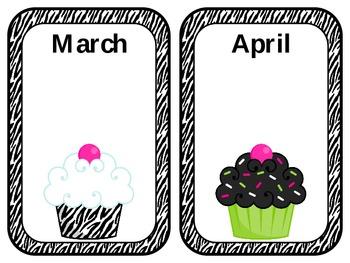 Zebra Cupcake Birthday Bash