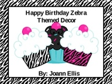Zebra Cupcake Birthday Bash