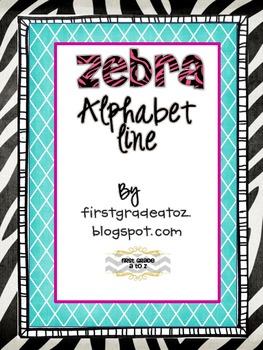 Zebra Cursive Alphabet line