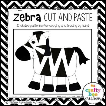 Zebra Cut and Paste